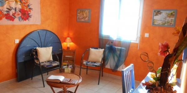 Gîte « Ile des Pins » - Salon / Chambre 2